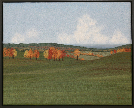 Autumn Hills by textile artist Tracey Lawko