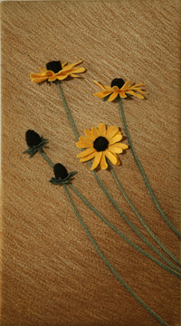 Black-eyed Susans by textile artist Tracey Lawko
