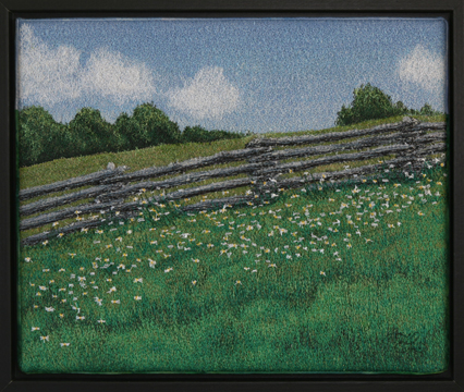 Daisy Field by textile artist Tracey Lawko