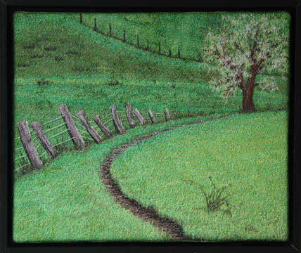 Spring Path by textile artist Tracey Lawko