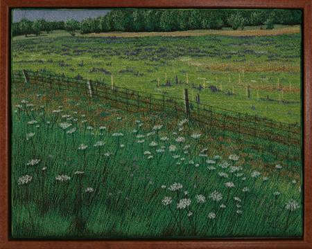 Wildflower Fields by textile artist Tracey Lawko