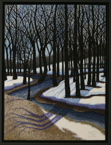 Spring Thaw by textile artist Tracey Lawko