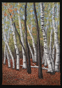 Walking Through the Hardwoods by textile artist Tracey Lawko