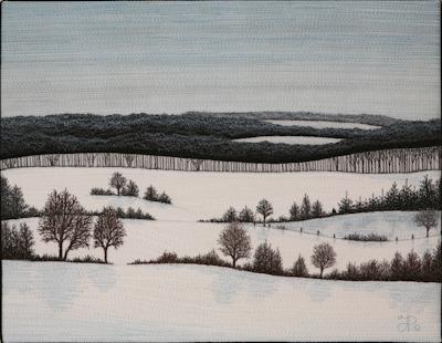 Glen Huron Hills by Tracey Lawko unframed