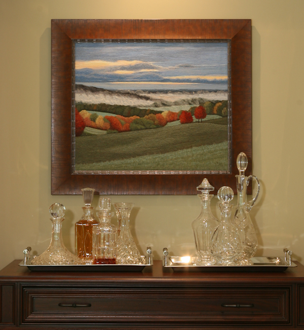 Autumn Hills (framed) by Tracey Lawko