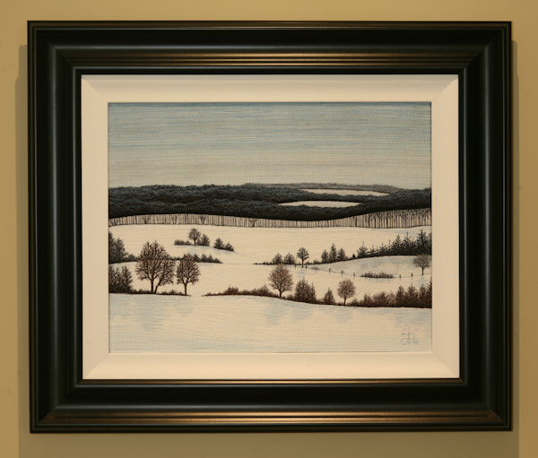 Glen Huron Hills (framed) by Tracey Lawko