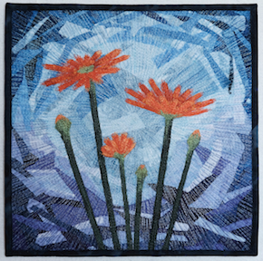 Abstraction for Katie by textile artist Tracey Lawko